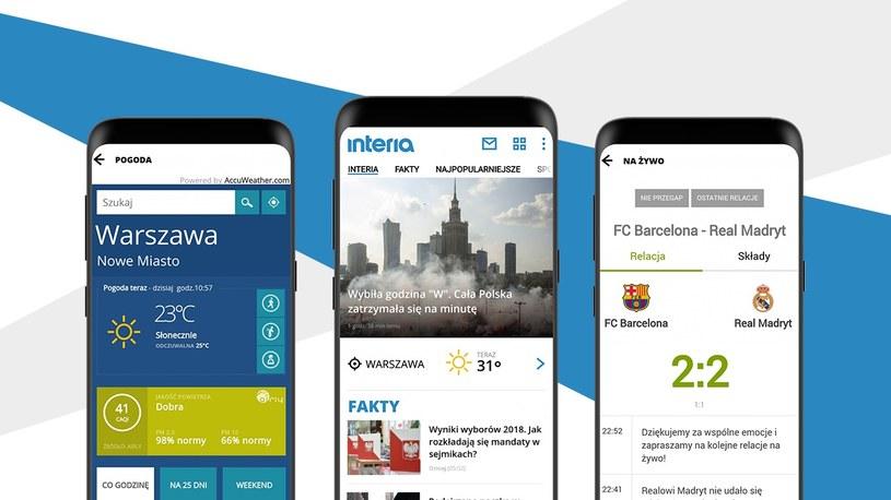 Interia z nową wersją aplikacji mobilnej na Androida /materiały prasowe
