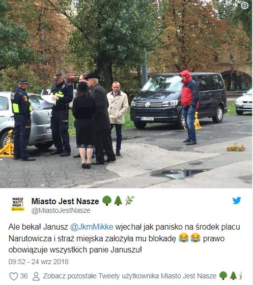 Interwencja straży miejskiej /Miasto jest Nasze /Twitter