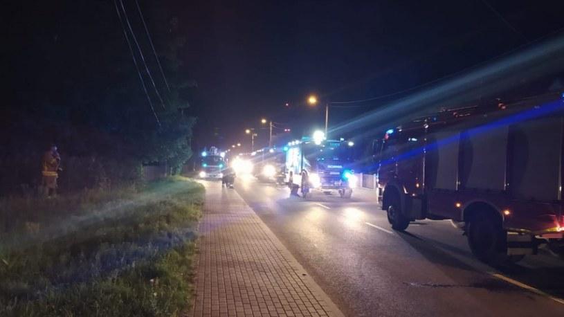 Interwencja straży podczas tragicznego pożaru /KP PSP Sulęcin /materiały prasowe