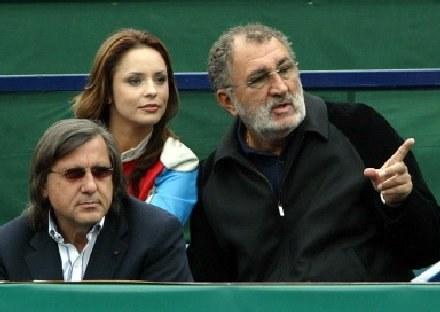 Ion Tiriac (z prawej) /AFP