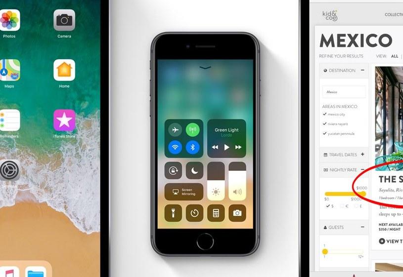 iOS 11 wprowadza między innymi zmodyfikowane centrum sterowania /materiały prasowe