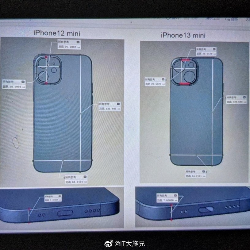 iPhone 13 Mini - render / fot. SlashGear /materiał zewnętrzny