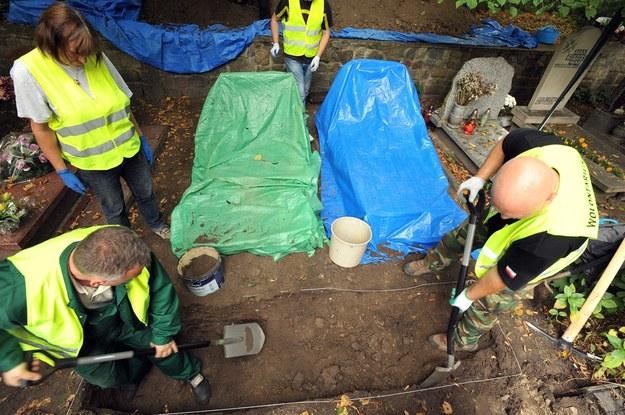 IPN w ciągu czterech lat dokonał ekshumacji ponad 700 szczątków /Wojciech Stróżyk /Reporter