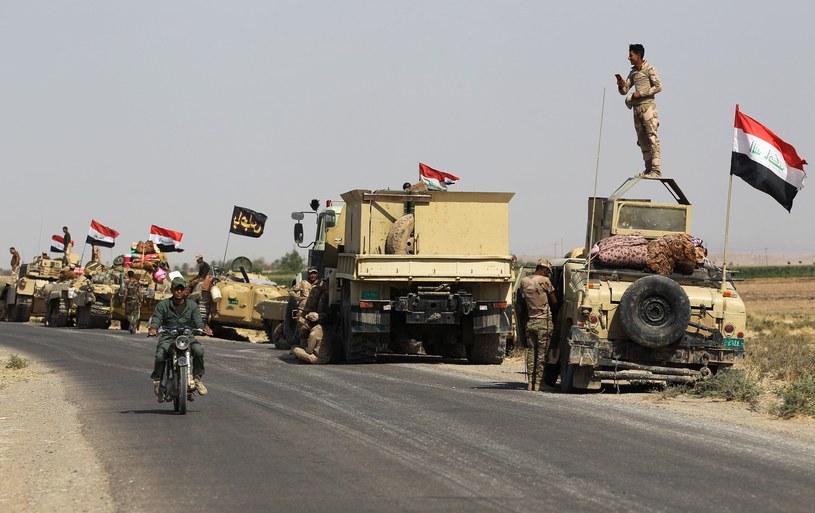 Iraccy żołnierze w pobliżu Kirkuku /AFP