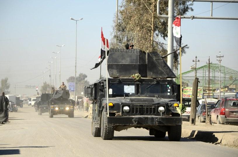 Irackie siły rządowe w Mosulu /PAP/EPA
