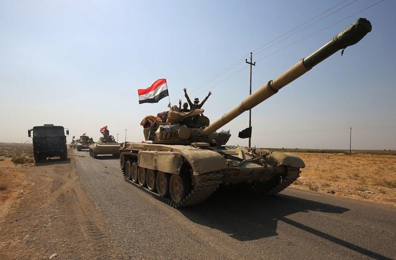 Irackie wojsko w drodze do Kirkuku /AFP