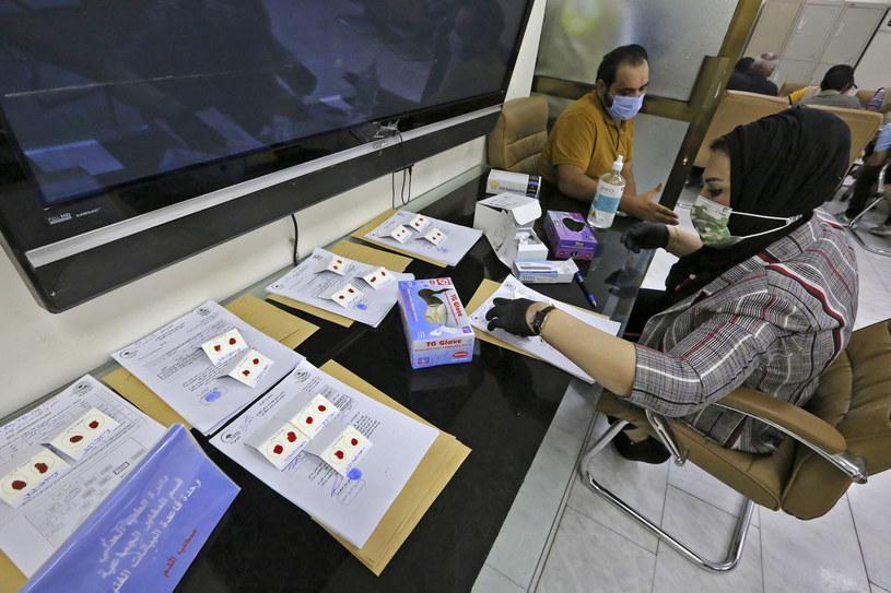 Irakijczycy oddają krew /SABAH ARAR /AFP