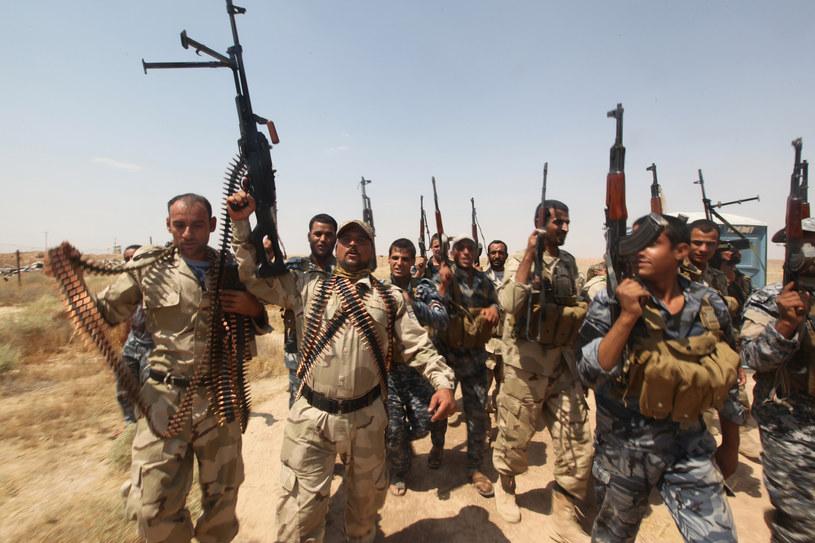 Irakijczycy walczący przeciwko IS /AFP