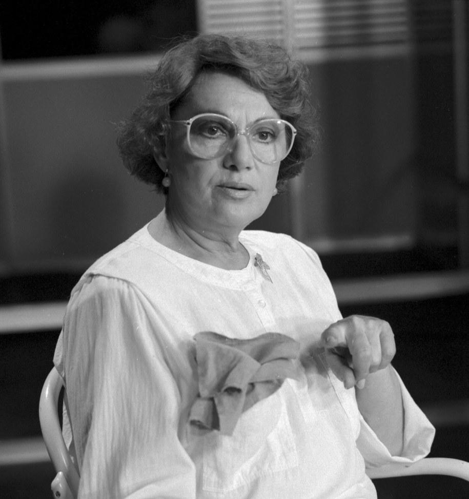 Irena Dziedzic, zdj. z 1990 roku /Marcin Wegner  /PAP