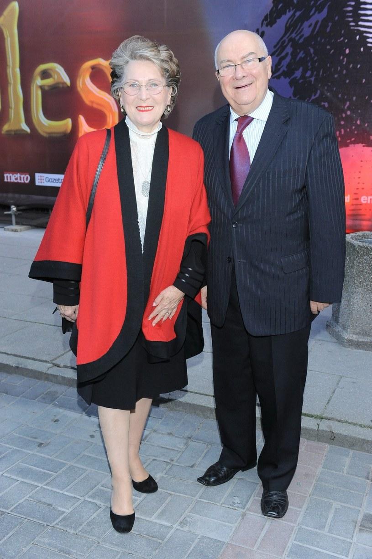 Irena Santor i Zbigniew Korpolewski na premierze w Teatrze Roma /East News