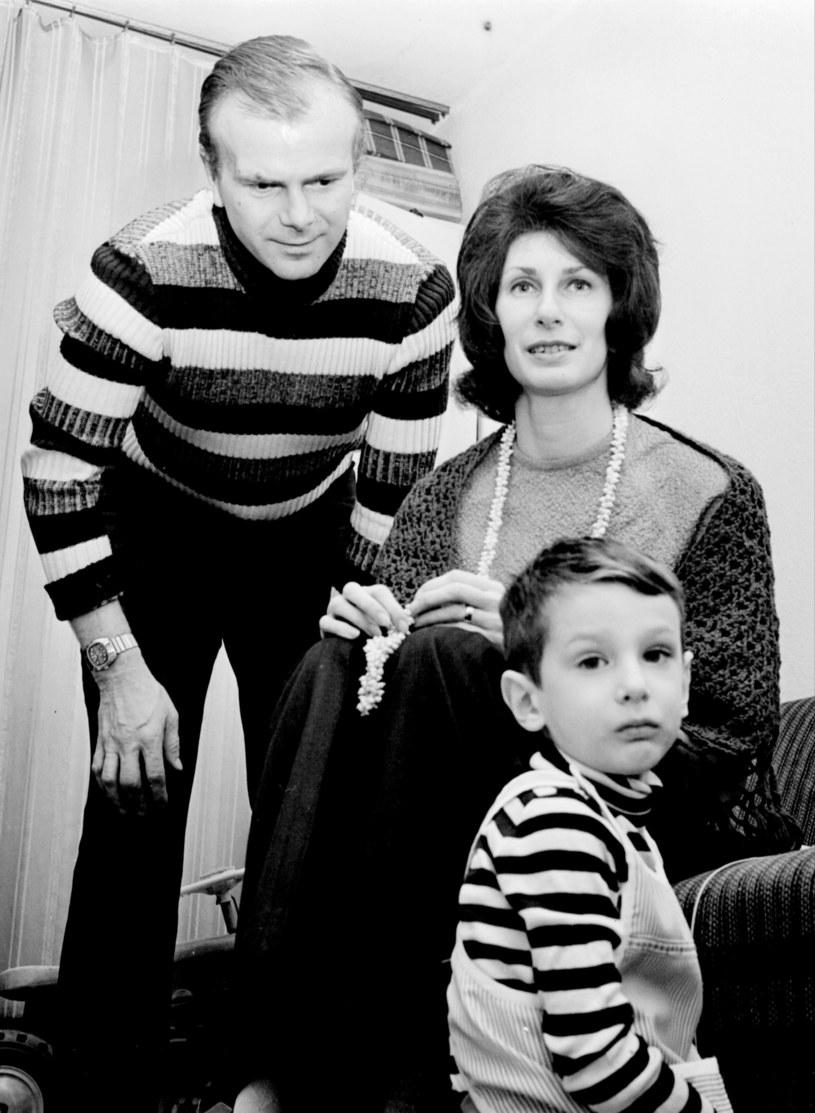 Irena Szewińska z mężem Januszem Szewińskim i synem Andrzejem, 1973 r. /Jan Rozmarynowski /Agencja FORUM
