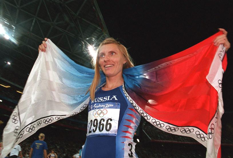 Irina Priwałowa po zdobyciu olimpijskiego złota /Getty Images
