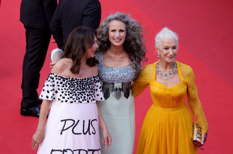 Iris Berben, Andie MacDowell and Dame Helen Mirren na 74. Festiwalu Filmowym w Cannes /Andreas Rentz /Getty Images