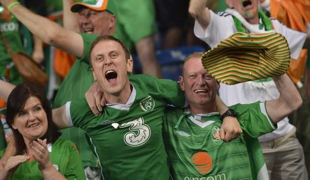 Irlandzcy kibice na poznańskim stadionie /INTERIA.PL/AFP