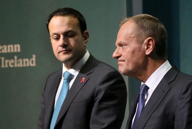 Irlandzki premier Leo Varadkar i szef Rady Europejskiej Donald Tusk /PAUL FAITH    /AFP
