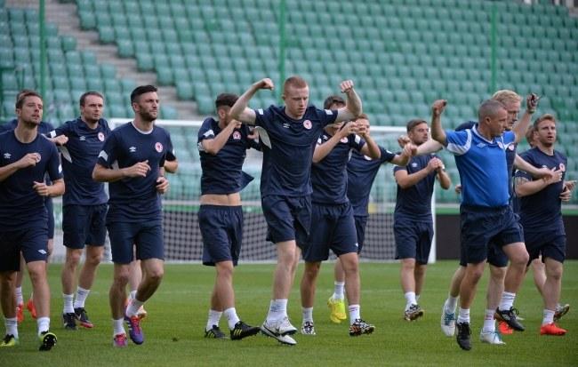 irlandzkiego Saint Patrick's Athletic FC podczas treningu na Pepsi Arenie w Warszawie /Bartłomiej Zborowski /PAP