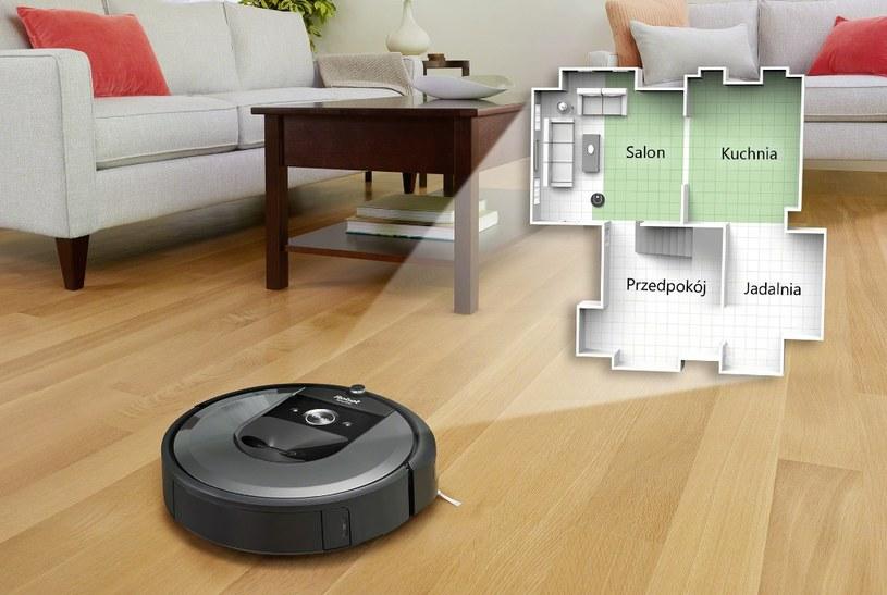 iRobot Roomba i7 rozpozna obszar, który sprząta, aby zwiększyć swoją efektywność /materiały prasowe