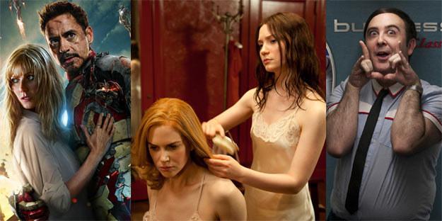 """""""Iron Man 3"""" (L), """"Stoker (C) i """"Przelotni kochankowie (P) to najbardziej oczekiwane filmy tygodnia /materiały dystrybutora"""