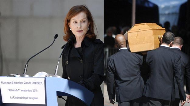 Isabelle Huppert na pogrzebie Claude'a Chabrola /AFP