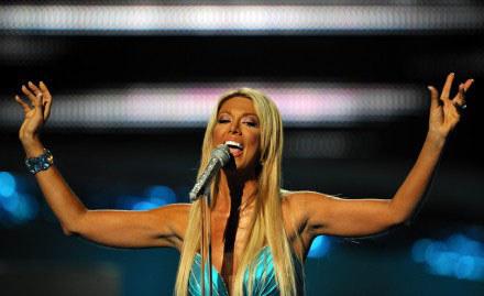 Isis Gee na Eurowizji 2008 /arch. AFP