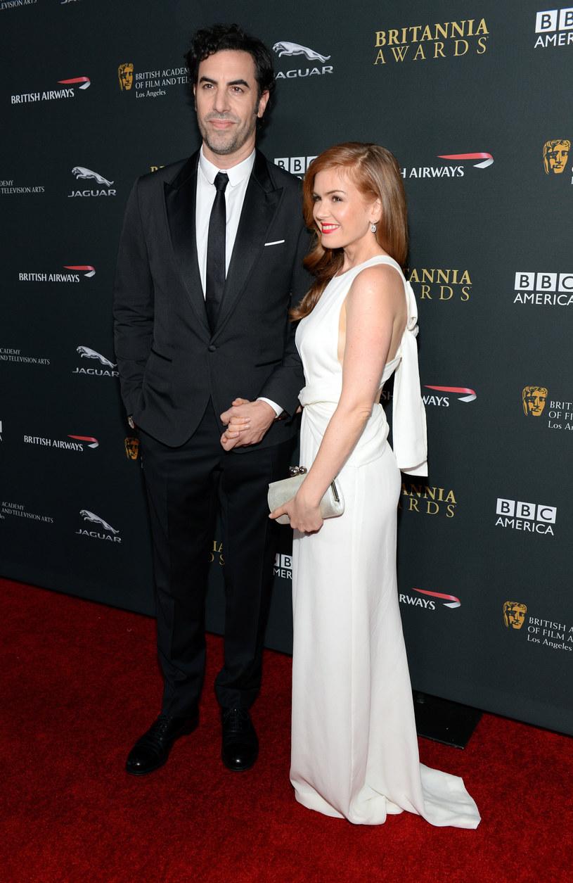Isla Fisher i jej mąż Sacha Baron Cohen w 2013 roku /Michael Kovac /Getty Images