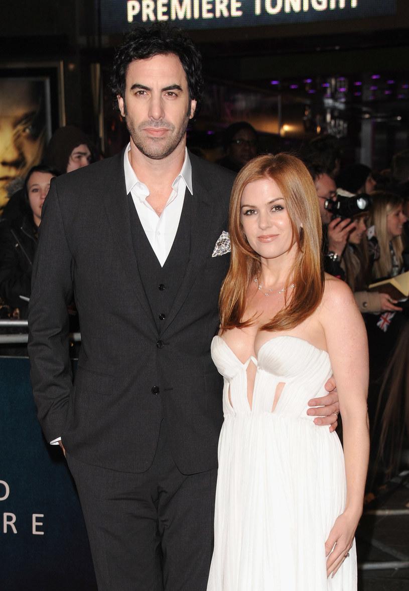 Isla Fisher z mężem Sashą Baronem Cohenem /Getty Images