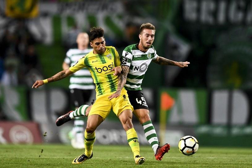 Iuri Medeiros (z prawej) nie zagrzał miejsca w Sportingu po powrocie z Legii /PATRICIA DE MELO MOREIRA /AFP