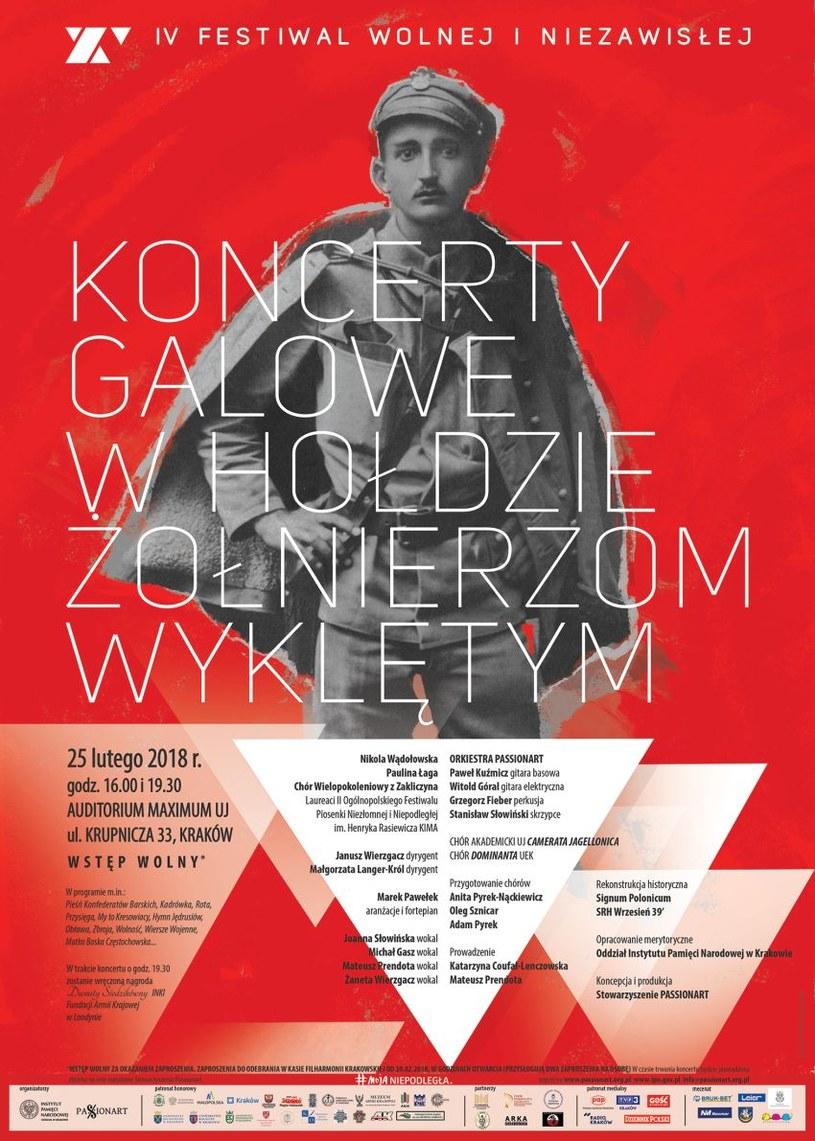 IV Festiwal Wolnej i Niezawisłej  Kraków, Kielce, Żabno, Lusławice, Dąbrowa Tarnowska, Wola Rzędzińska  25 lutego – 11 marca 2018 /IPN