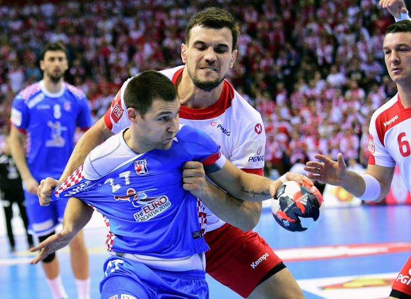 Ivan Cupić w meczu z Polską podczas mistrzostw Europy /AFP