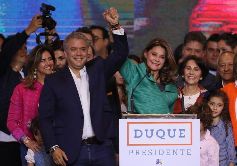 Ivan Duque po ogłoszeniu wyniku wyborów /Mauricio Duenas Castaneda /PAP/EPA