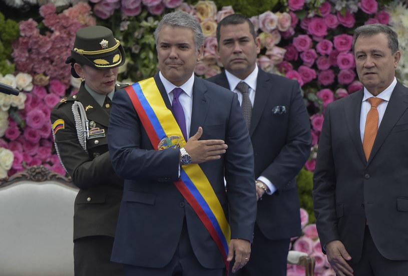 Ivan Duque zaprzysiężony na prezydenta Kolumbii /Raul Arboleda /AFP