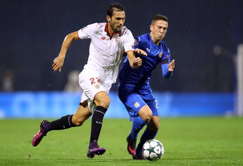 Ivan Fiolić (z prawej) w barwach Dinama Zagrzeb /AFP