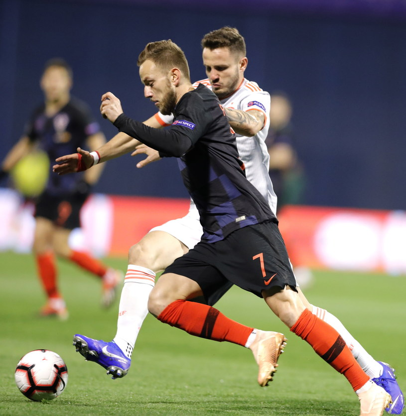 Ivan Rakitić w meczu z Hiszpanią /PAP/EPA