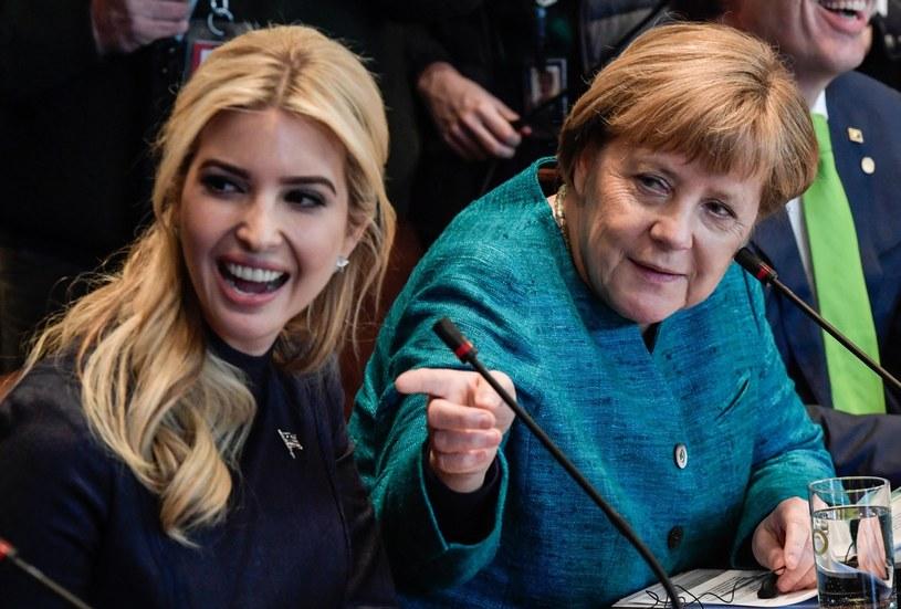 Ivanka Trump na spotkaniu z Angelą Merkel /Clemens Bilan /PAP/EPA