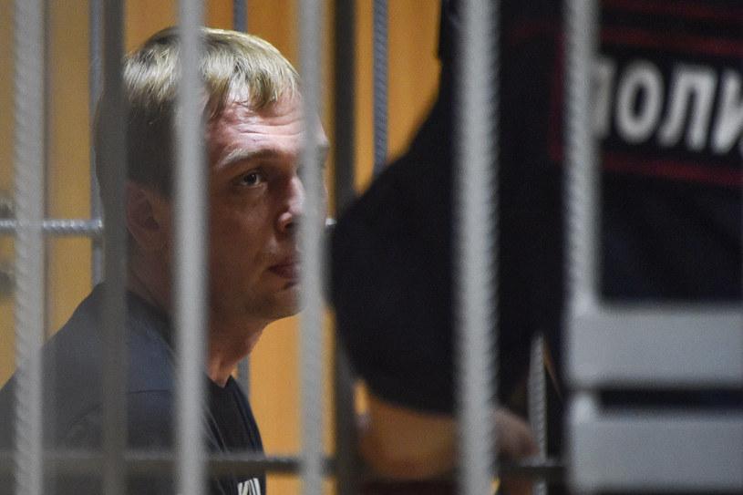 Iwan Gołunow po zatrzymaniu /AFP