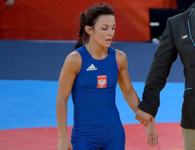 Iwona Matkowska podczas igrzysk w Londynie /AFP