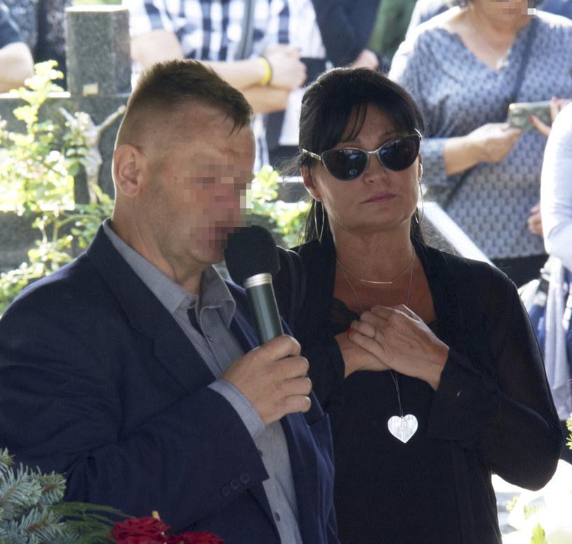 Iwona Pavlović na pogrzebie Konrada Gacy, fot. Krzysztof Radzik /East News