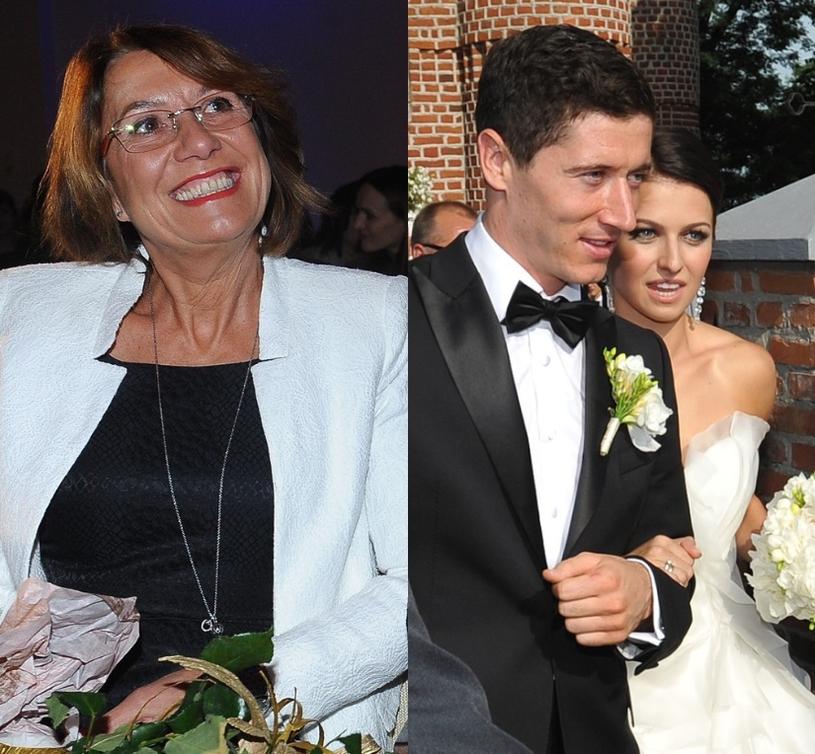 Iwona, Robert i Anna Lewandowscy /- /East News