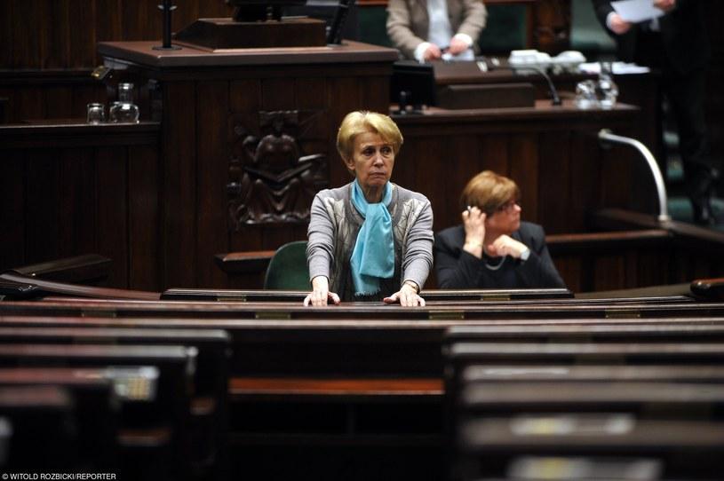 Iwona Śledzińska-Katarasińska zrezygnowała  z czwartego miejsca na łódzkiej liście /Witold Rozbicki /Reporter