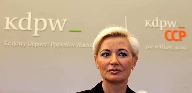 Iwona Sroka, prezes KDPW i KDPW_CCP Fot. Andrzej Iwańczuk /Reporter