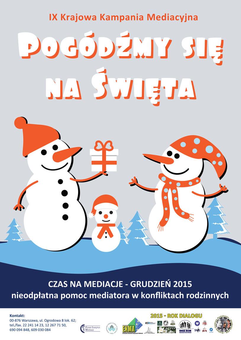 """IX Krajowa Kampania Mediacyjna """"Pogódźmy się na Święta"""" /"""