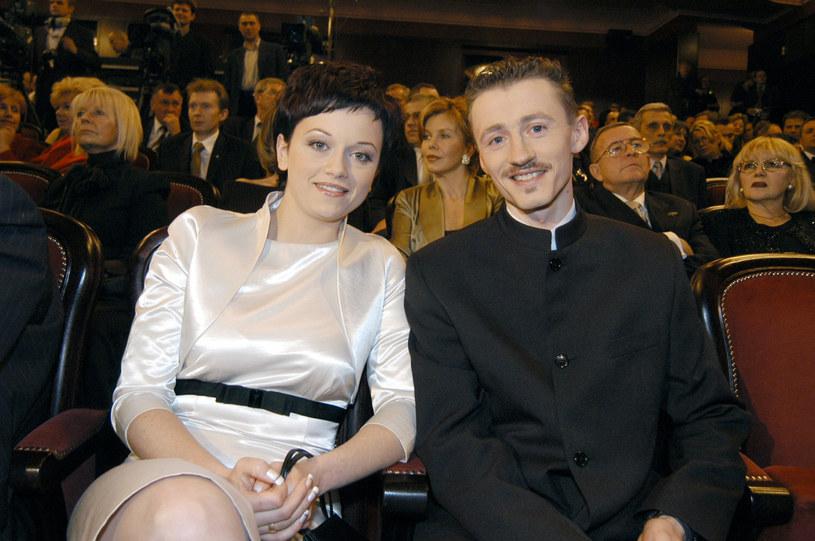 Iza i Adam Małysz w 2002 roku /Warda /AKPA