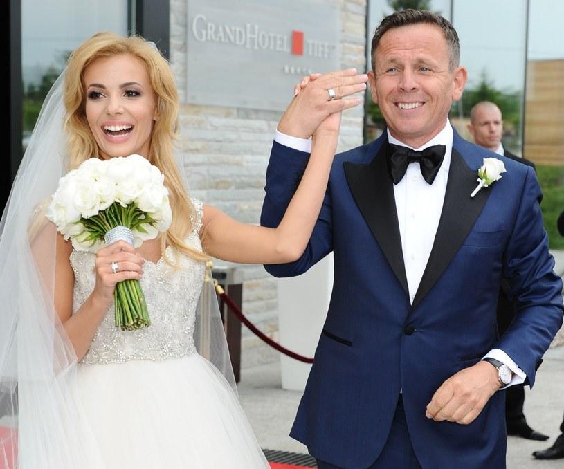Izabela Janachowska i Krzysztof Jabłoński pobrali się 28 czerwca 2014 roku /East News