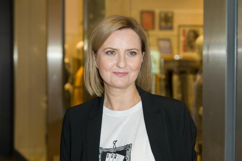 Izabela Kuna podczas otwarcia butiku Ochnik w Galerii Mokotów w 2018 roku /Artur Zawadzki /Reporter