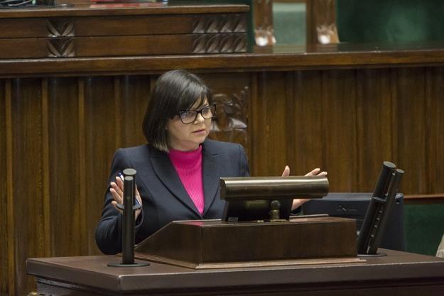 Izabela Leszczyna z resortu finansów w Sejmie. Fot. ANNA ABAKO /Agencja SE/East News