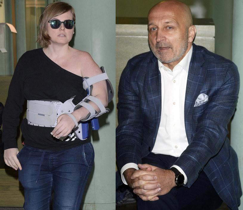 Izabela Marcinkiewicz i Kazimierz Marcinkiewicz w sądzie, fot. MAREK KUDELSKI/AGENCJA SE/East News /East News