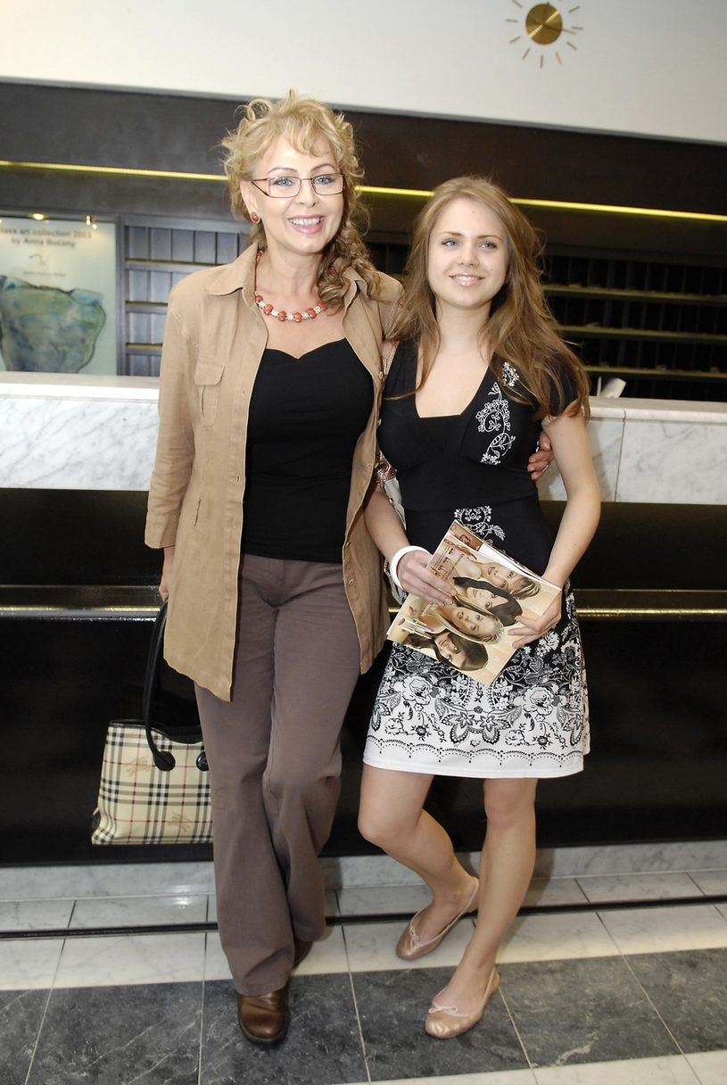 Izabela Trojanowska z córką /Niemiec /AKPA