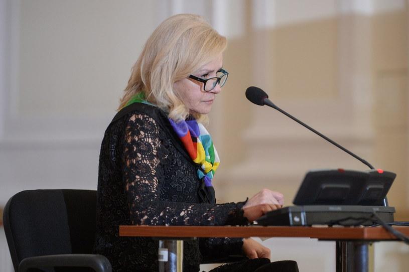 Izabela Wierzbicka, właścicielka kamienicy przy ul. Lutosławskiego 9 /Marcin Obara /PAP