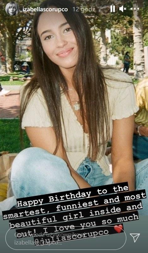 Izabella Scorupco złożyła córce życzenia urodzinowe na /Screen z instastory www.instagram.com/izabellascorupco /Instagram