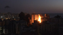 Izraelskie naloty zniszczyły 12-piętrowy budynek w Strefie Gazy
